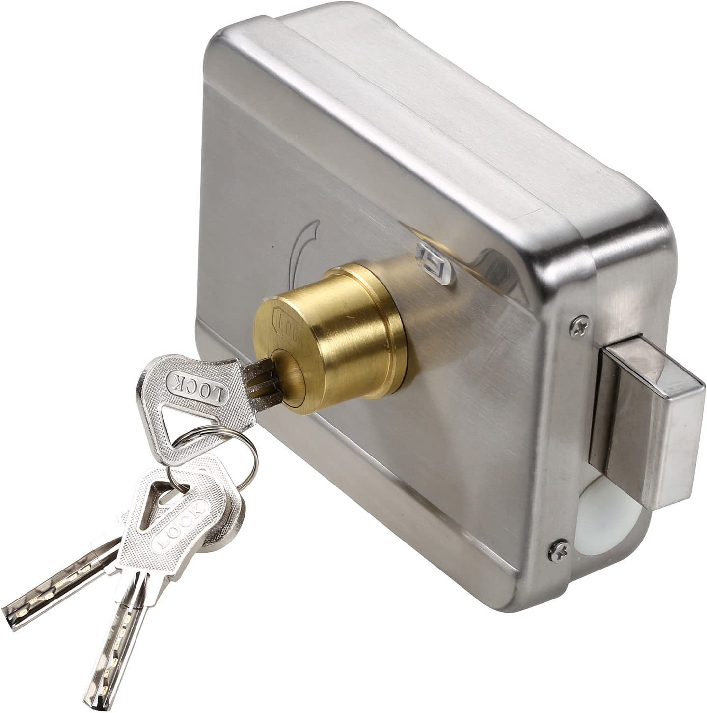 Silent Safe Intelligent Motor Electric Lock W/signal Self-closing Lockable Home Improvement