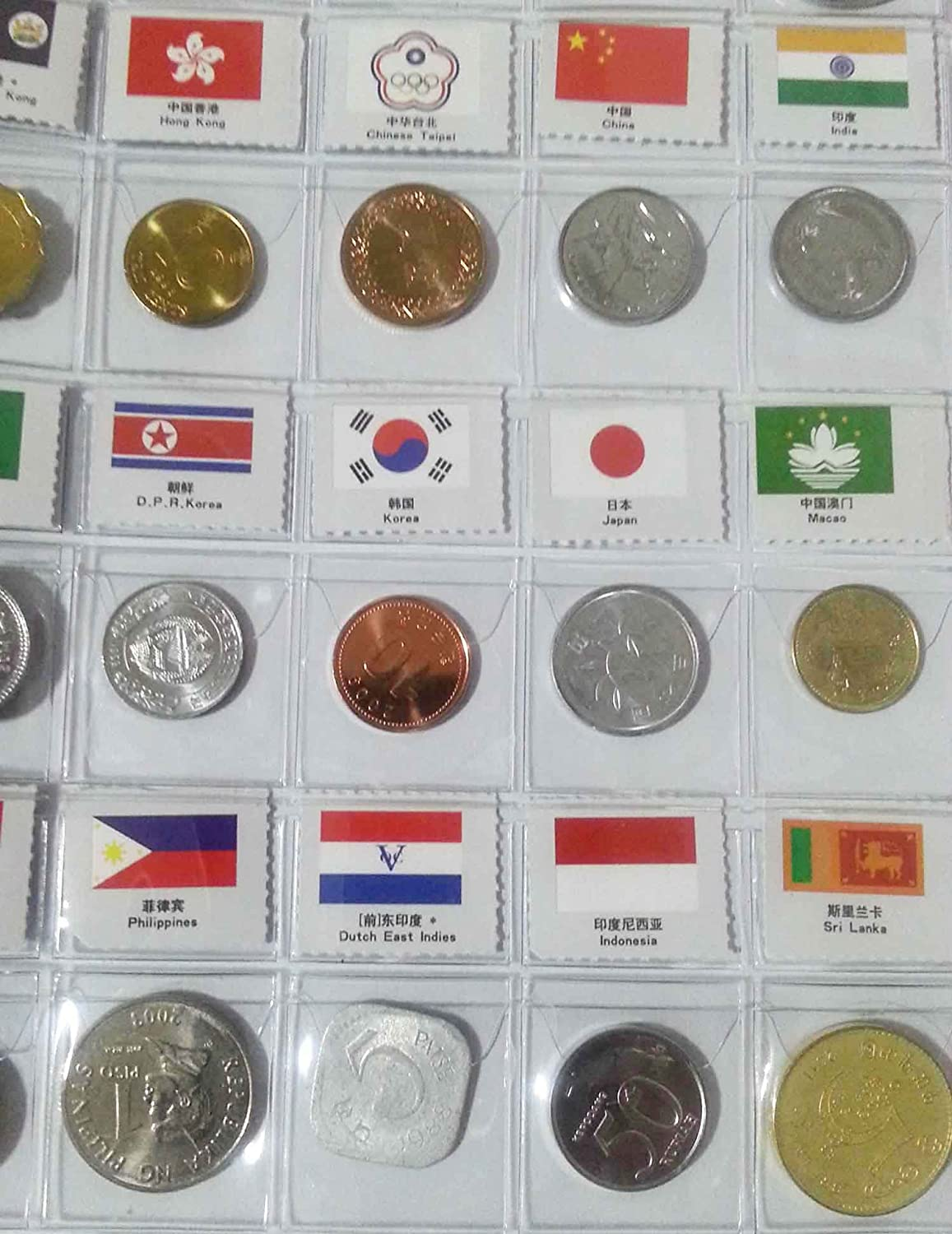 Extrem Amazon.com: Coin Collection Starter Kit 60 Countries Coins 100  GQ85