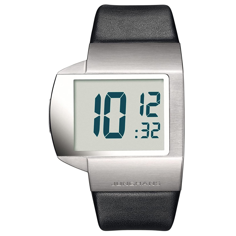 Junghans herren armbanduhr xl futura digital edelstahl