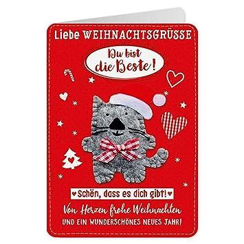 Beste Weihnachtsgrüße.Sheepworld 90478 Klappkarte Mit Umschlag Weihnachten Nr 35