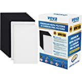 Complete Premium 2 HEPA Replacement Filter Pack Including 8 Activated Carbon Pre Filters Precut for HPA100 compatible…