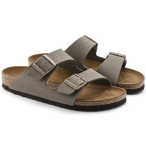 257b7c0d8fcc Birkenstock Arizona 2-Strap Women s Sandals in Stone Birko-Flor ...