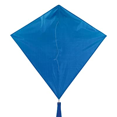 In the Breeze 3294 - Blueberry 30 Inch Diamond Kite - Solid Blue, Fun, Easy Flying Kite: Toys & Games