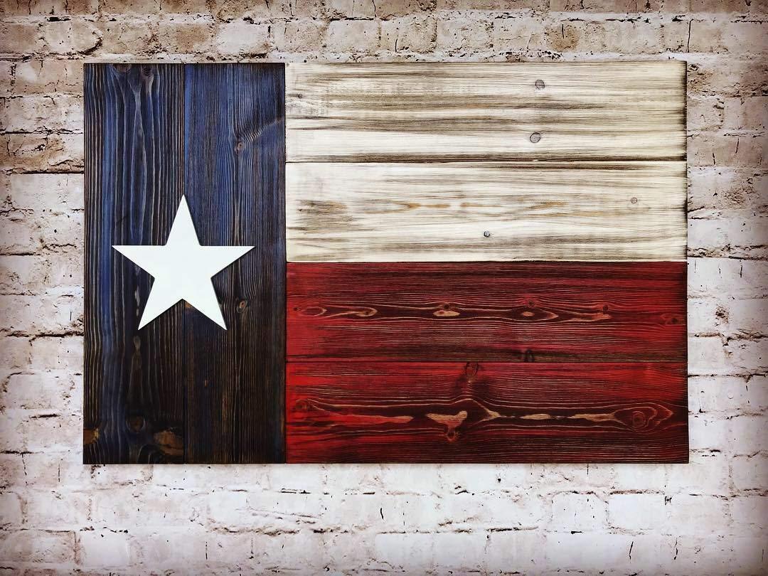 Texas Wooden Flag, Wooden Texas Flag Wall Decor, Texas State Flag On Wood  Wall Art, Texas Flag Decor, Rustic Wood Texas Flag, USA Wooden
