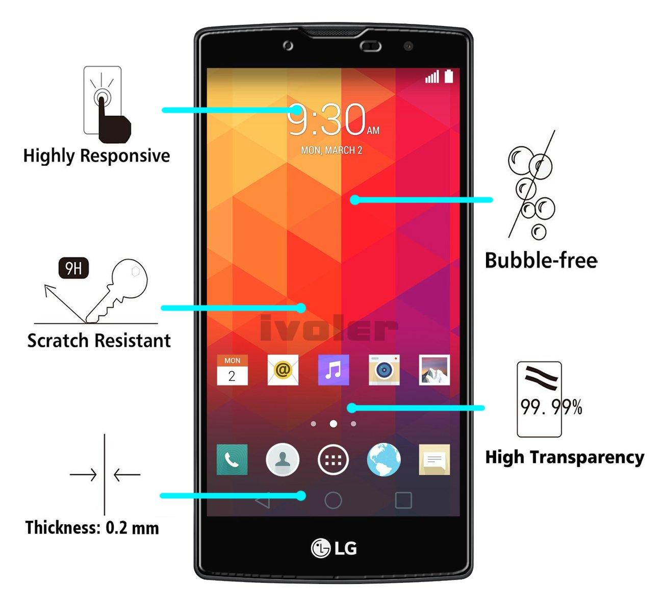 iVoler Protector de Pantalla para LG Magna/LG G4c, Cristal Vidrio Templado Premium: Amazon.es: Electrónica