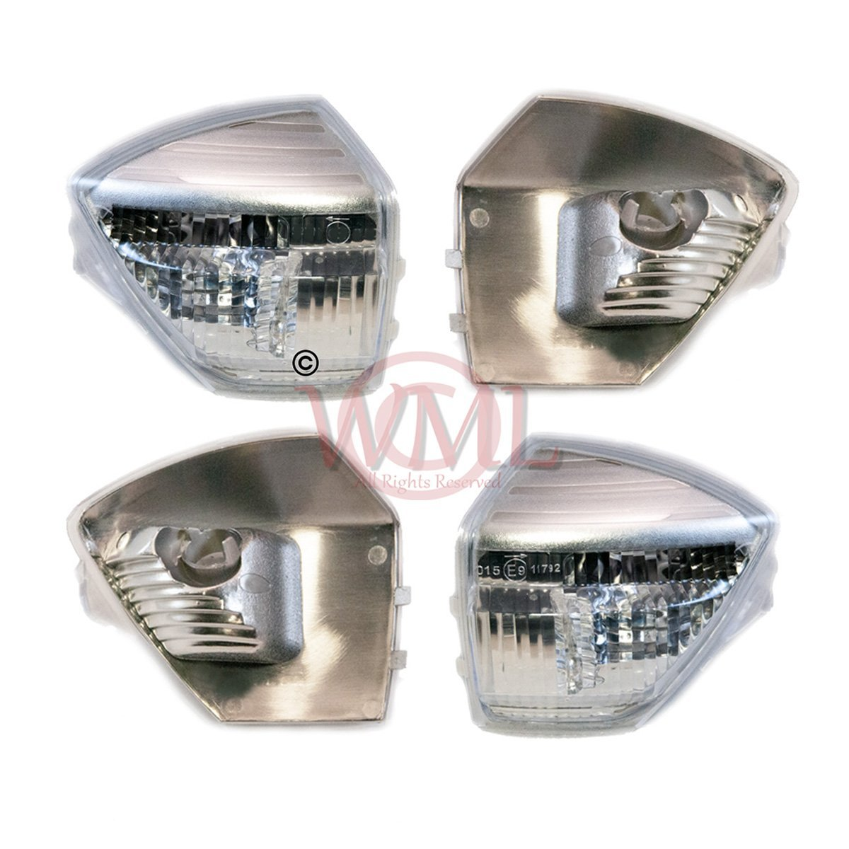 Door / Wing Mirror Indicator Lens Clear Both Sidess (Left and Right) Wing Mirror Leader