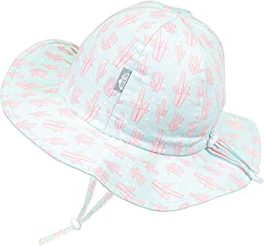 50+UPF Cotton Jan /& Jul Toddler Sun-Hat for Girl with Strap M: 6-24 Months, Cherries