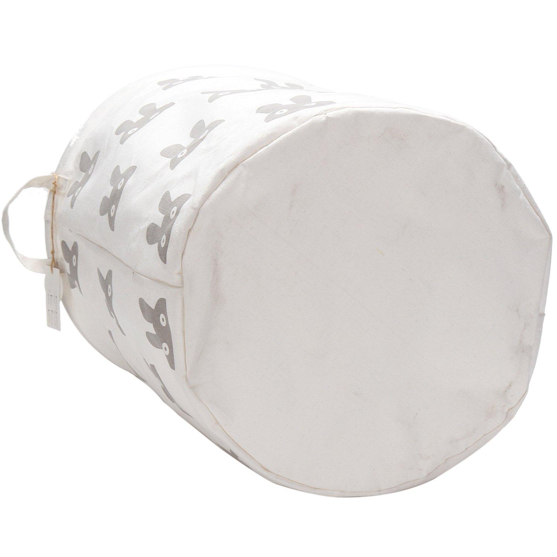 de gran tama/ño plegable con dise/ño de conejo bonito Cesta para lavander/ía Sea Team 50 cm de algod/ón ramio con cubo cil/índrico impermeable revestimiento impermeable de arpillera