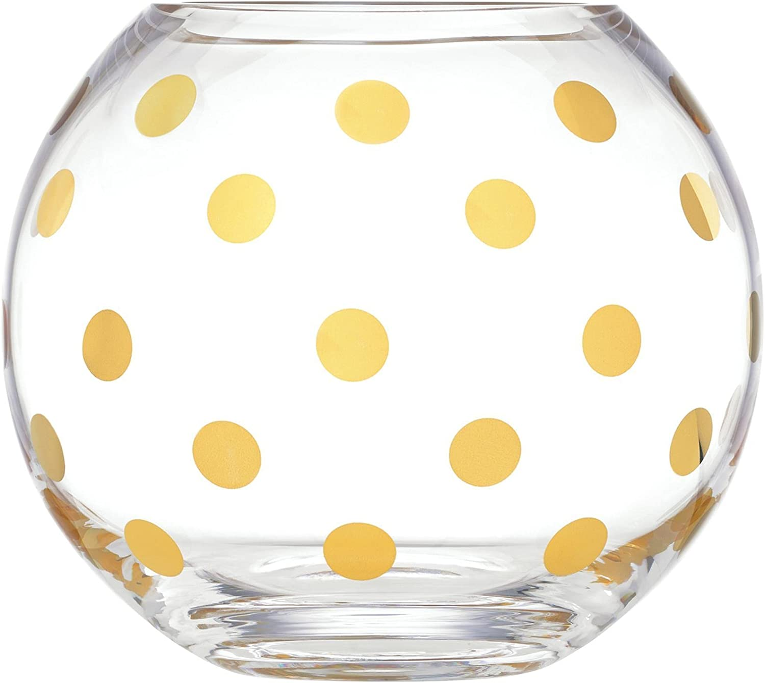 Kate Spade Pearl Place Rose Bowl, 3.75 LB, Clear