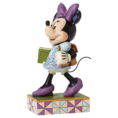 Disney Traditions by Jim Shore Back to School Minnie Mouse Stone Resin Figurine, 5.875""