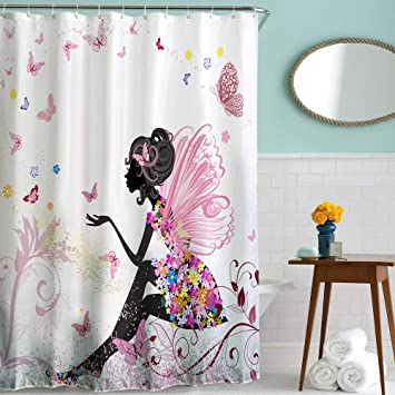 Little Story Clearance Fabric Waterproof Bathroom Shower Curtain Panel Sheer Decor
