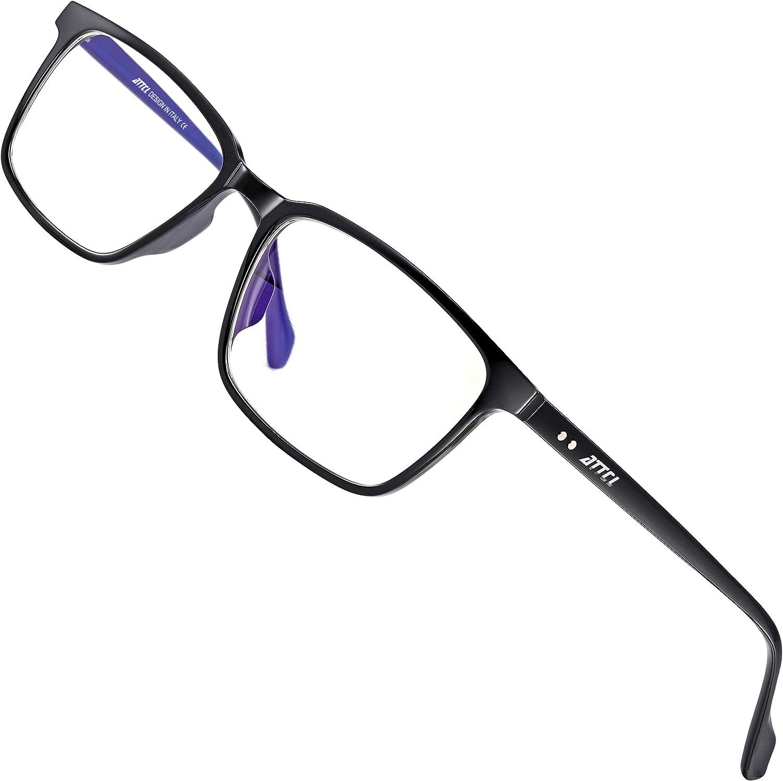 Anti Luz Azul para Ordenador Anti-reflejantes para Hombre y Mujer ATTCL Gafas con Filtro de luz Azul bloqueo de luz azul Gafas con Filtro