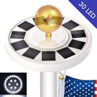 Deals on Bonega 30 LED Solar Flag lights Flagpole Pole Lights