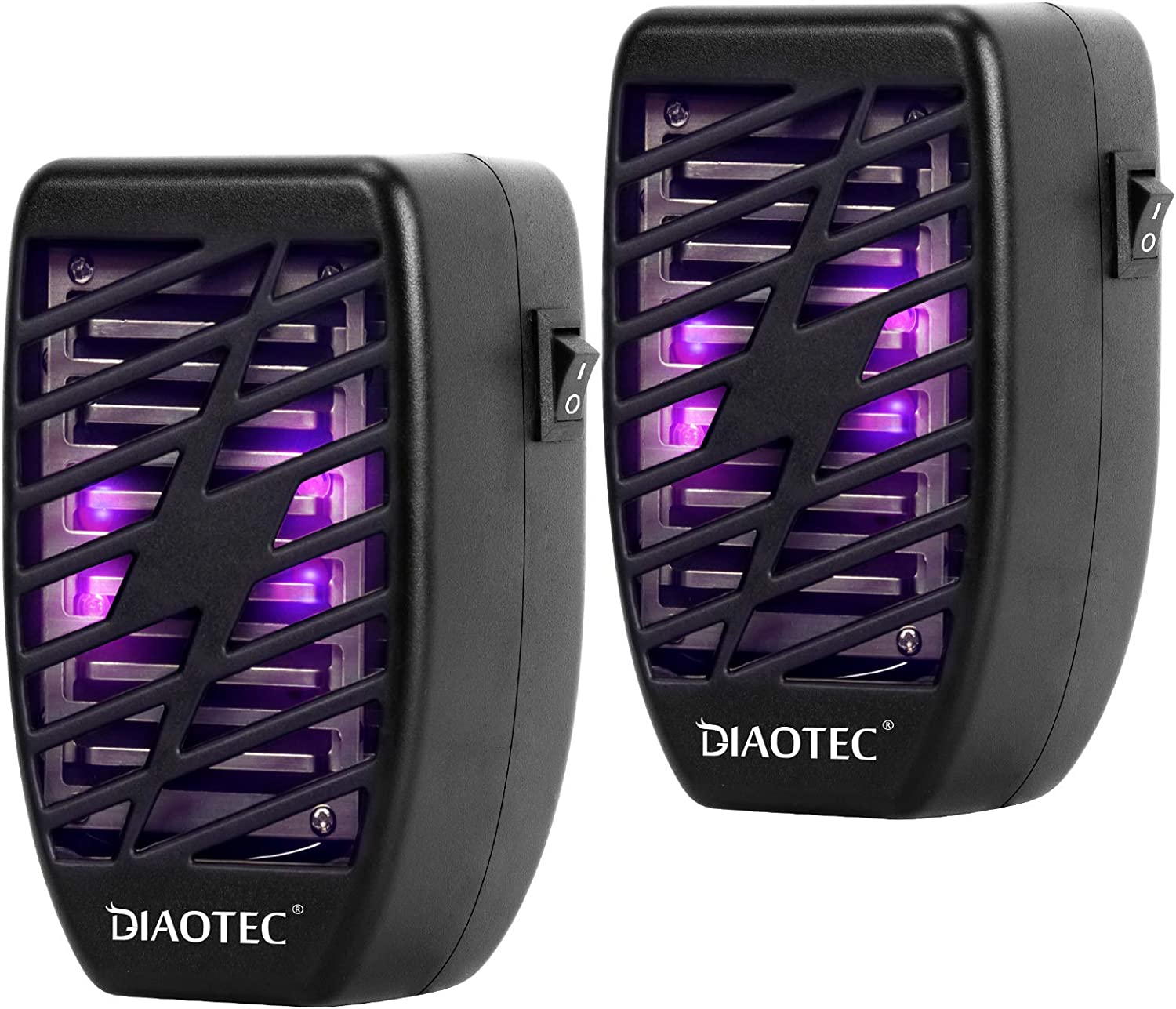 Diaotec 2Pack Indoor Plug-in Mosquito Trap Electronic Bug Zapper with Night Light - Insect Killer - Gnat Killer Lamp - Electric Insect Repellent - Eliminates Flying Pests Flies Gnats Moth and Bugs