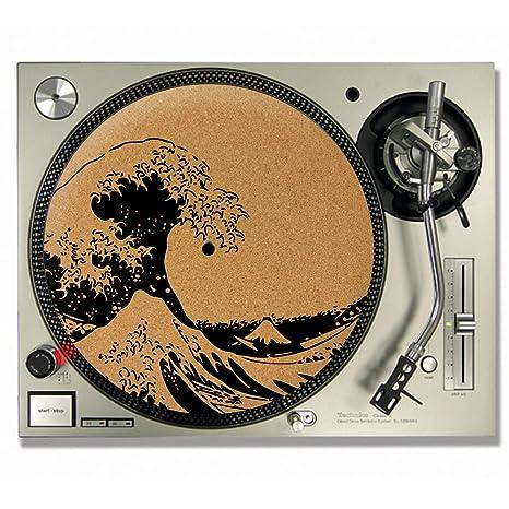 La Gran Ola De Kanagawa Hokusai corcho DJ Slipmats Tocadiscos/Slip ...