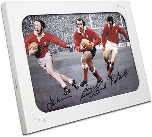 Gareth Edwards, JPR Williams y Phil Bennett Firmado fotografía de ...