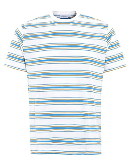 3a814ae9897 Sunspel Mens Wonky Stripe T-Shirt S White  Amazon.co.uk  Clothing