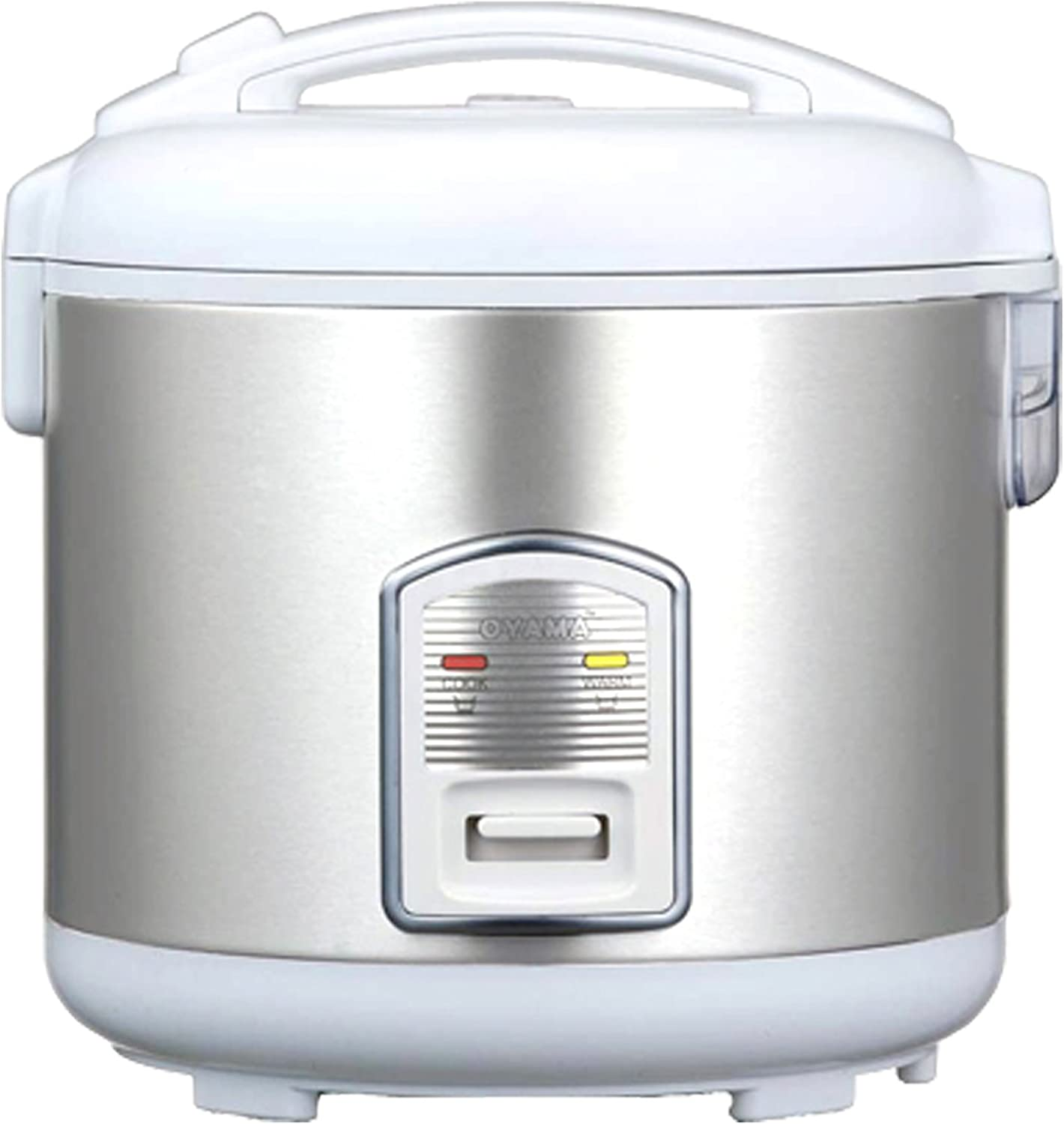 Oyama CFS-F12W 7 Cup Rice Cooker, Stainless White