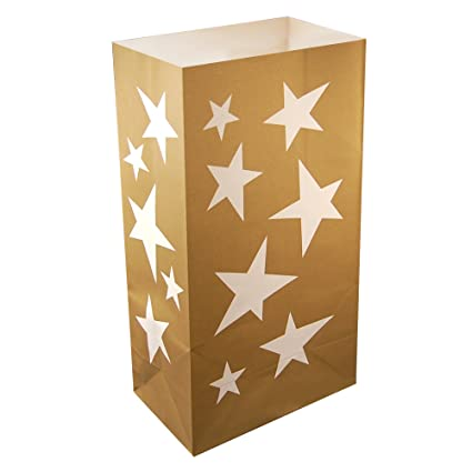 Amazon.com: LumaBase 47024 24 Count estrellas Luminaria ...