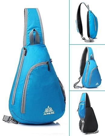 GSTEK Mochila de Hombro Crossbody Mochila para Deportes al Aire Libre, Escuela, Viajes - Azul: Amazon.es: Deportes y aire libre