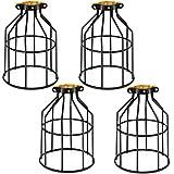 Kohree Metal Bulb Guard Lamp Cage, for Pendant Light, Lamp Holder, Ceiling Fan Light Bulb Covers Vintage Open Style Industria