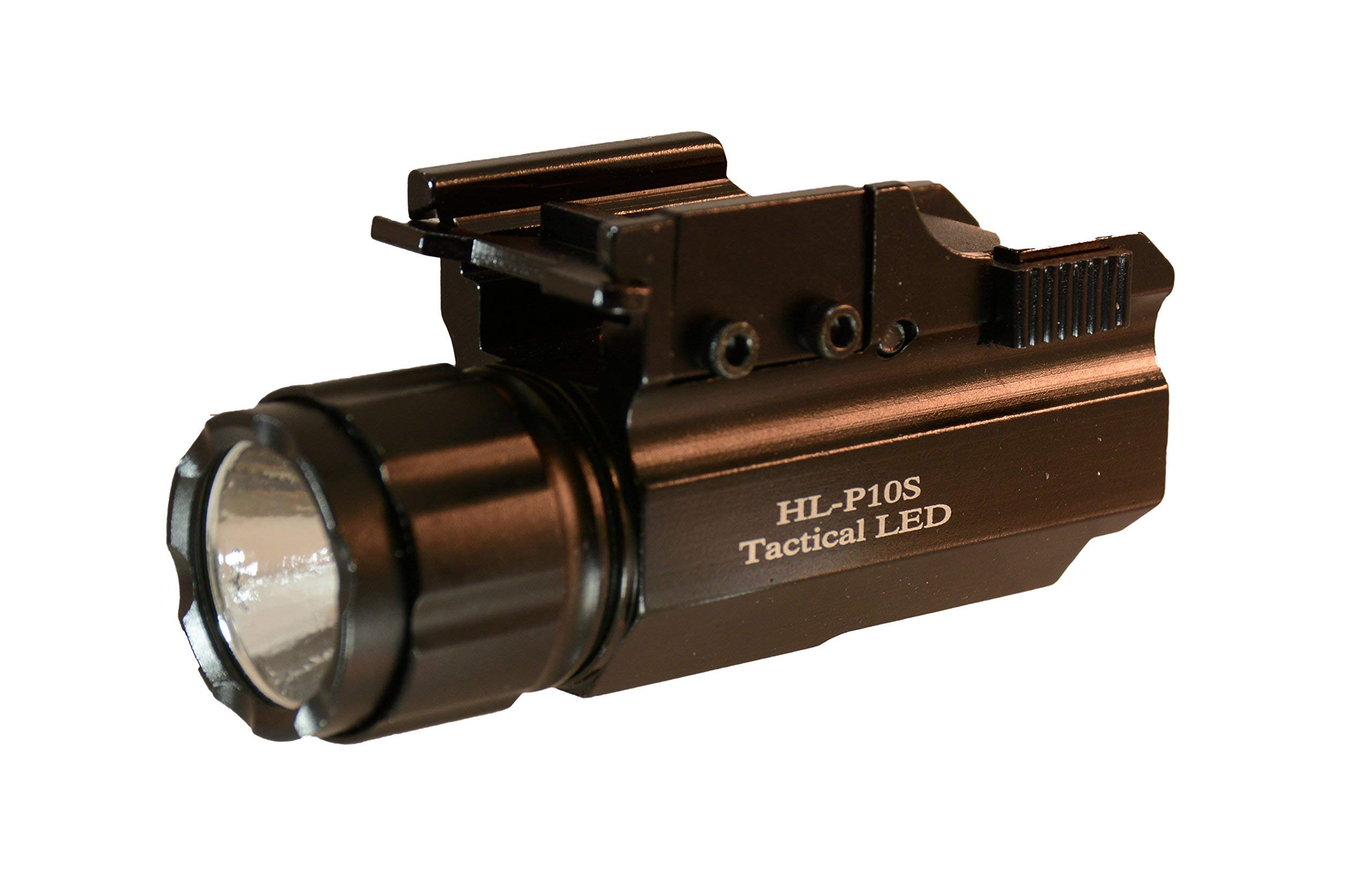Aimkon HiLight P10S 500 Lumen Pistol LED Strobe Flashlight with Weaver Quick Release for Glock Series, Sig Sauer, Smith & Wesson, Springfield, Beretta, Ruger, and Heckler & Koch, etc. by HiLight