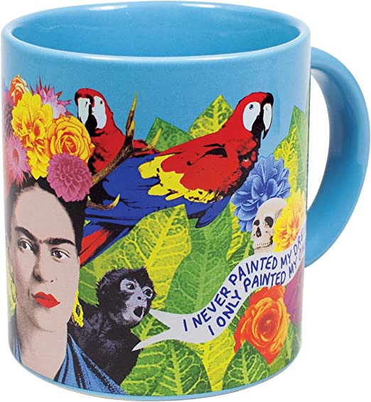 com frida kahlo art coffee mug famous quotes in english