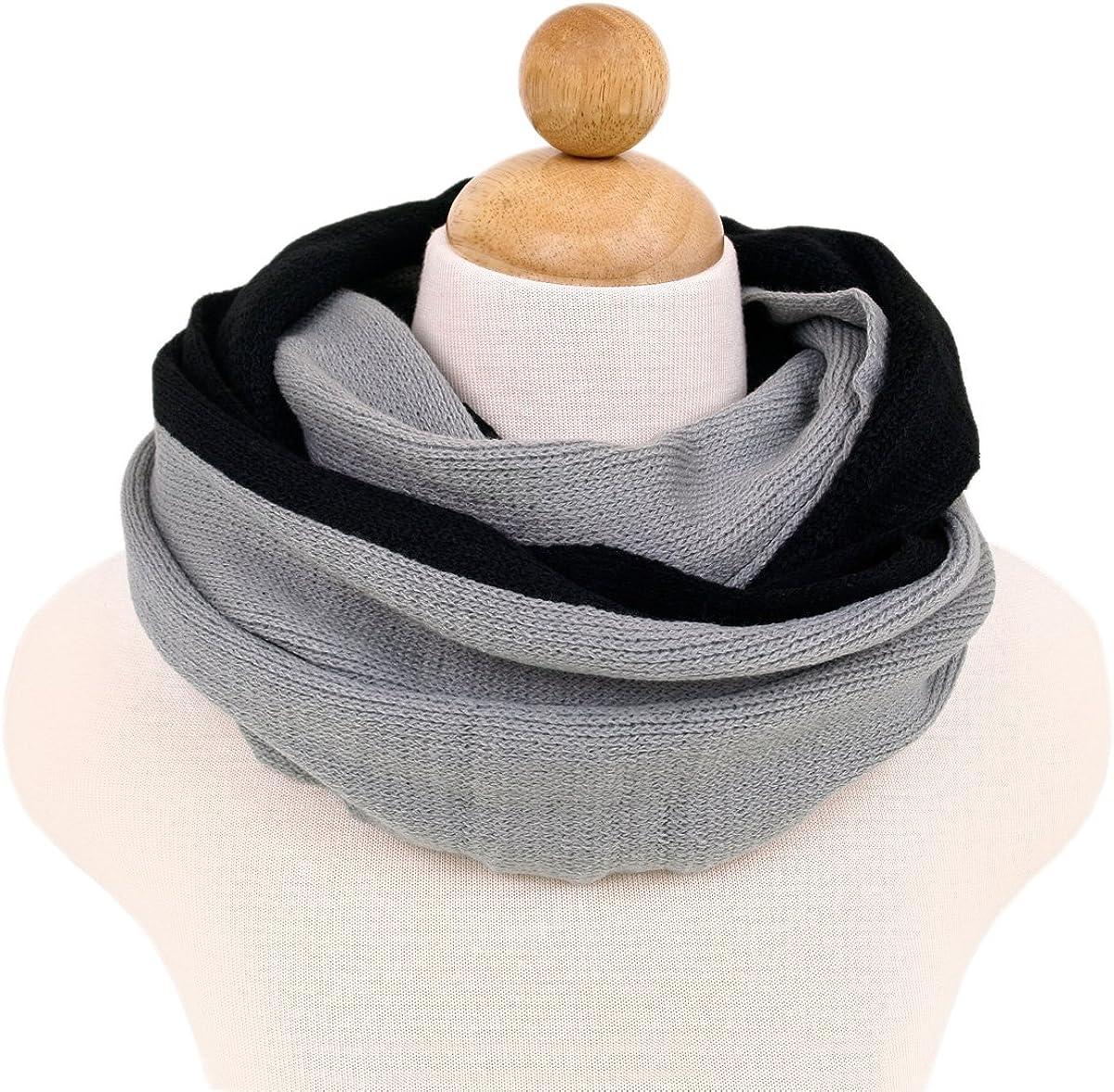 Two-Tone Winter Knit Warm...