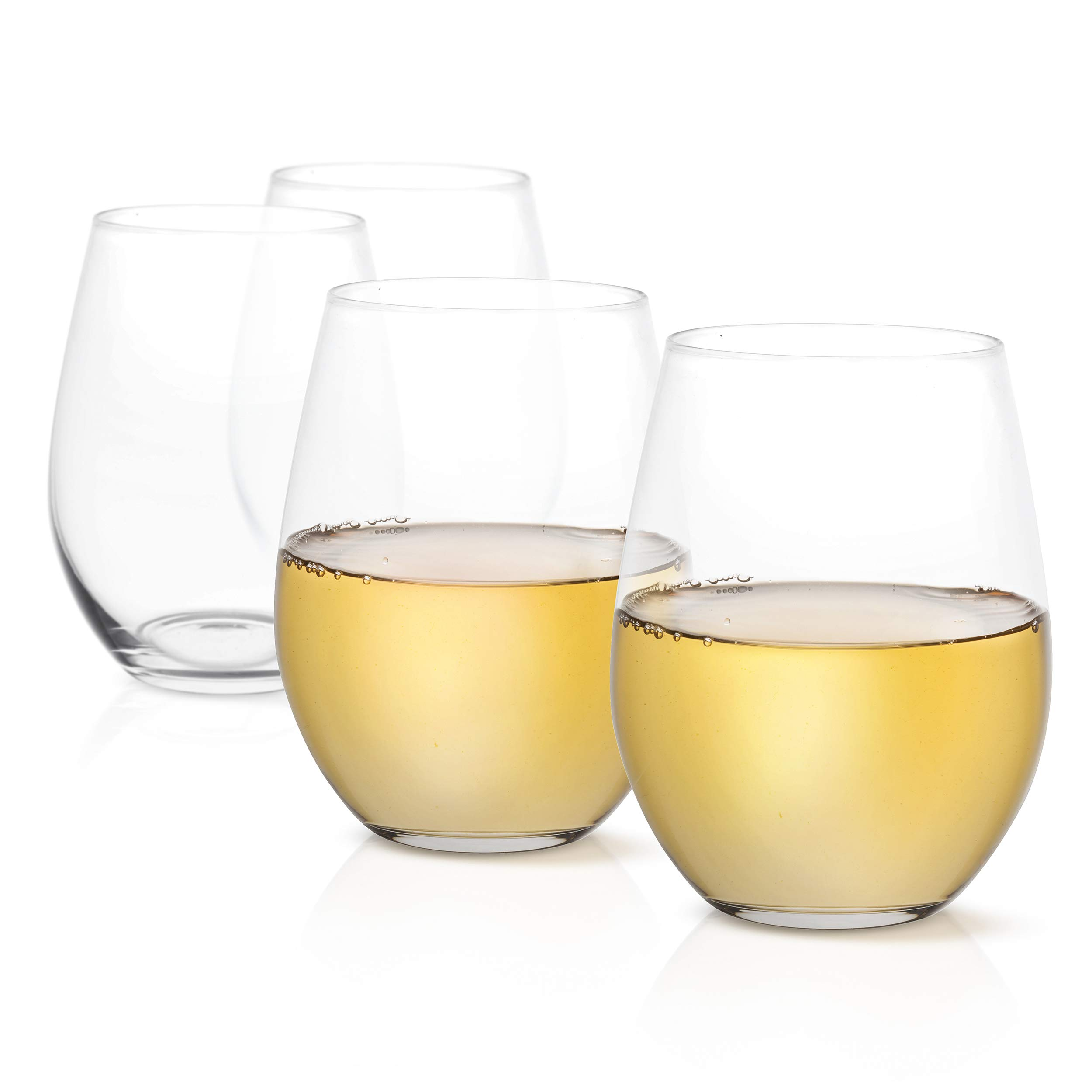 JoyJolt Spirits Stemless Wine Glasses for Red or White Wine (Set of 4)-19-Ounces by JoyJolt (Image #6)