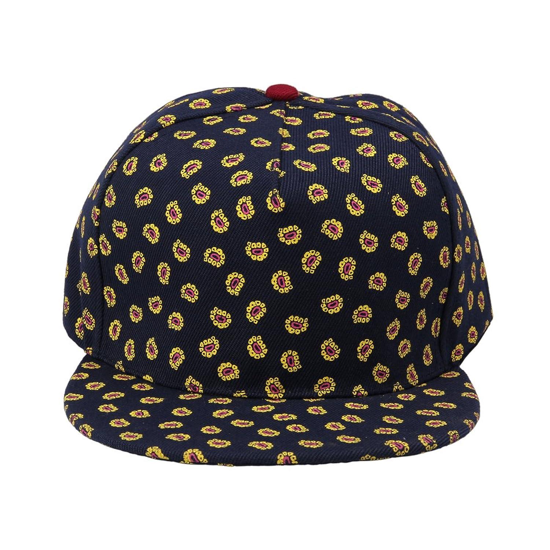 Smile YKK Women's Cotton Sunflower Snapback Baseball Trucker Hat Black