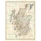 Wee Blue Coo 1799 Clement Cruttwell Map Scotland Vintage Art Print Poster Wall Decor 12X16 Inch