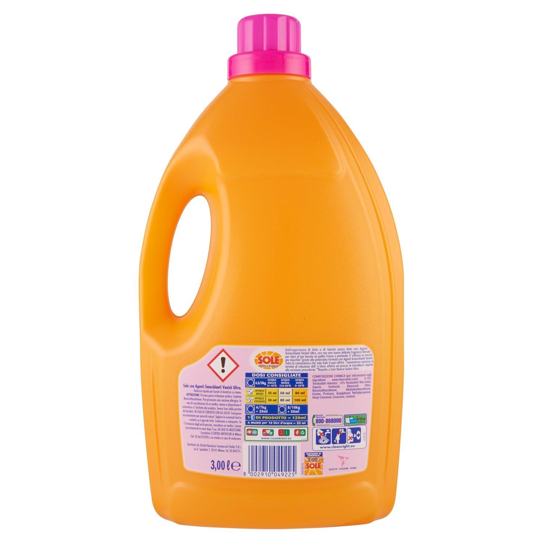 Sol con Vanish, Líquido detergente para lavadora, 60 lavados ...