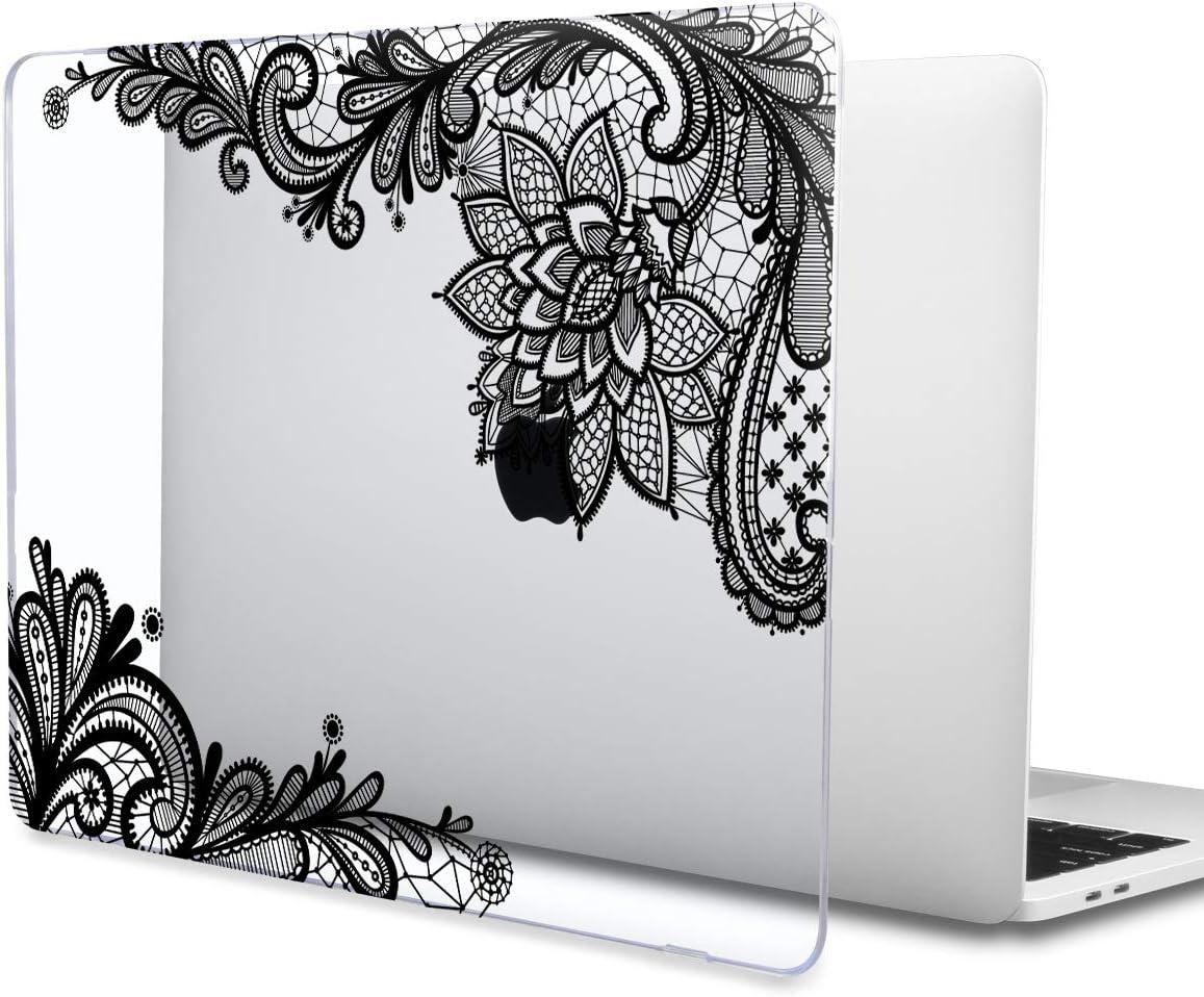 Dentelle Transparente TwoL Housse MacBook 12 Pouces Ultra Slim Coque Rigide Housse en Plastique pour MacBook 12 Pouces