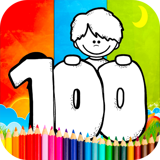 Coloring 100 Days Of School Games