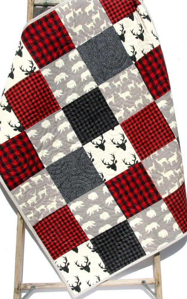 Organic Crib Sheet Buffalo Baby Bedding Lovey Minky Bedding Buffalo Plaid Collection Baby Blanket Lumberjack Baby Bedding Bumper