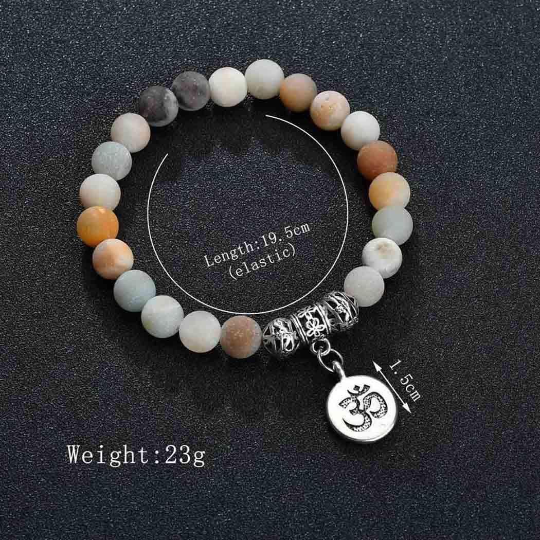 Edary Beach Bracelets de cheville en pierre naturelle Argent Runes Bracelet de cheville Cha/îne Bijoux de pied simples pour femmes et filles
