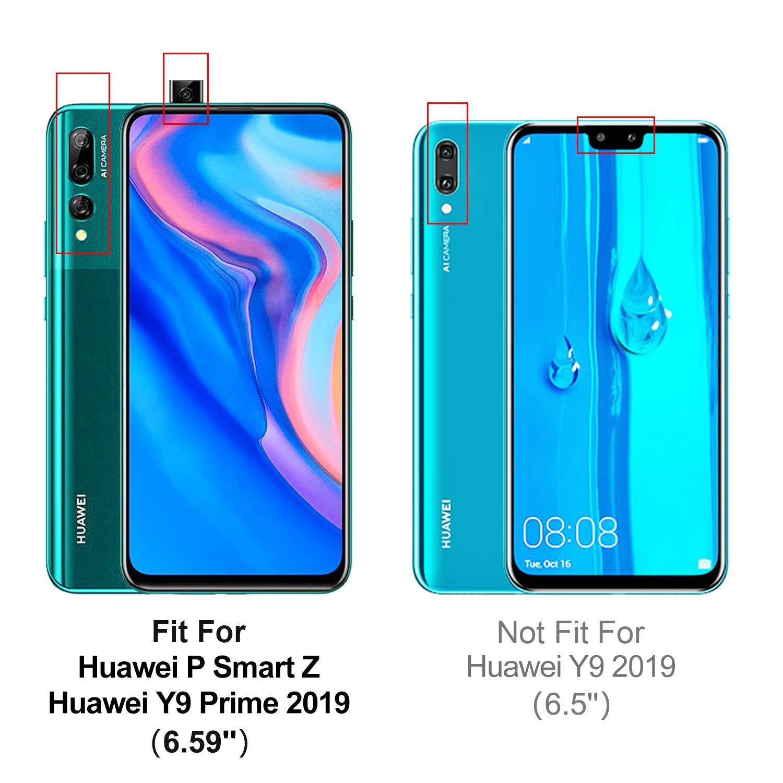 Nero HOOMIL Cover per Huawei P Smart Z Flip Case in Pelle PU Premium Custodia per Huawei P Smart Z//Y9 Prime 2019
