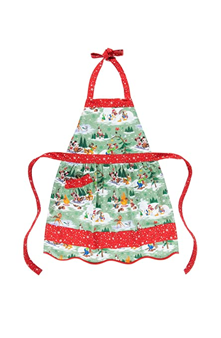 disney parks mickey mouse and pals christmas holiday chef apron happy holidays