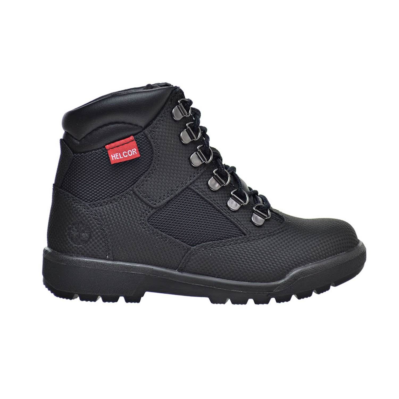 Timberland 6 Inch F/L Little Kid's Field Boots Black Helcor tb0a1ata (2.5 M US)