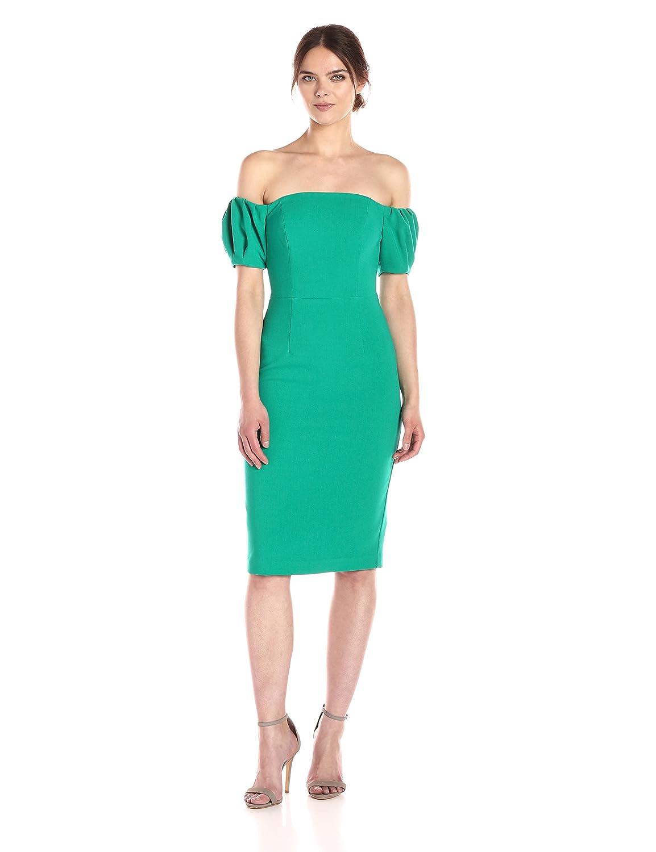 Agave Green Black Halo Womens Arden Off The Shoulder Dress