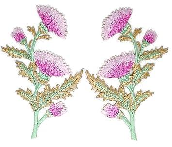 Par de flores, flores, flores, ramos bordados, para coser, planchar,