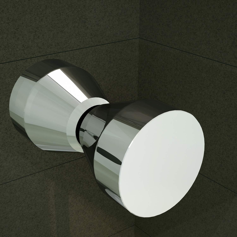 Duschkabine mit Eckeinstieg 75x75 cm 190cm H/öhe Klarglas 6mm ESG NANO