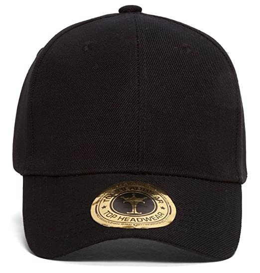 052ccecda01 TopHeadwear Classic Black Adjustable Hat at Amazon Men s Clothing ...