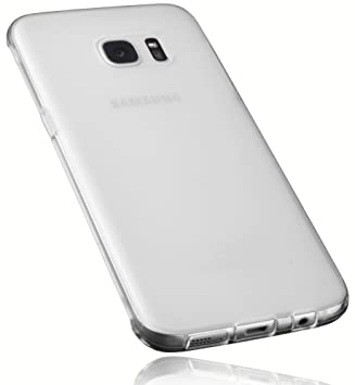 Mumbi 12714 - Carcasa para Samsung Galaxy S7 Edge, Color Blanco Transparente