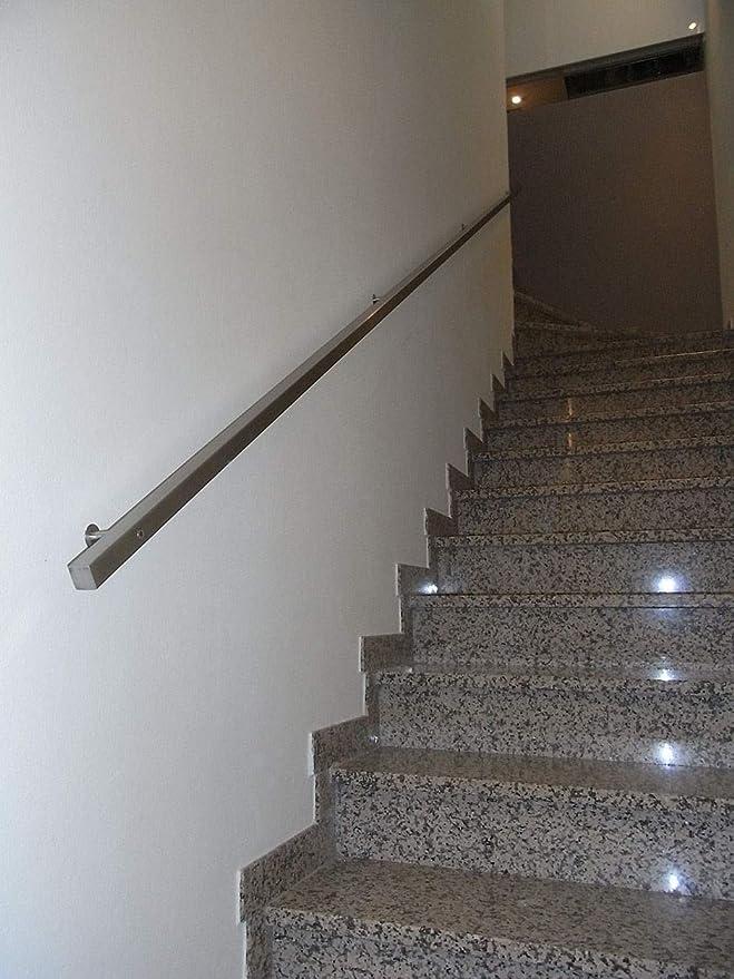 Pasamanos de acero inoxidable AISI 304 para protección de escalera sección 30 x 30 varias longitudes...: Amazon.es: Bricolaje y herramientas