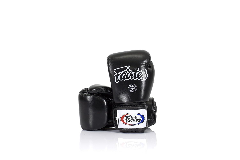 Fairtex Black フェアテックス ブラック ボクシンググローブ 本革製 B074P827XZ 10オンス