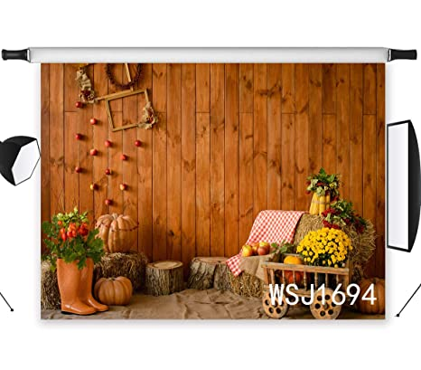 lb rustic halloween photography backdrop 7x5ft polyester fabric vintage farm wood wall backdrop halloween party decorations