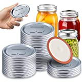 Canning Lids, FGSAEOR Regular Mouth Mason Jar Lids for Ball and Kerr Jars, Split-Type Metal Canning Jar Lids with Silicone Se