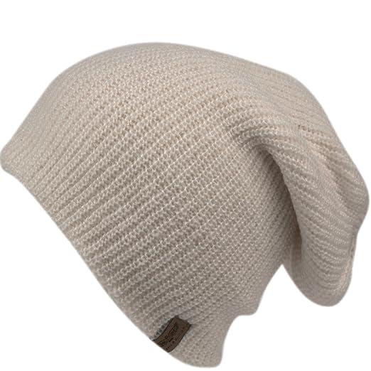 5c8fe50e388 ANGELA   WILLIAM Men s Basic Reversible Slouch Beanie- Long Hipster  Oversized Ribbed Knit Winter Skull