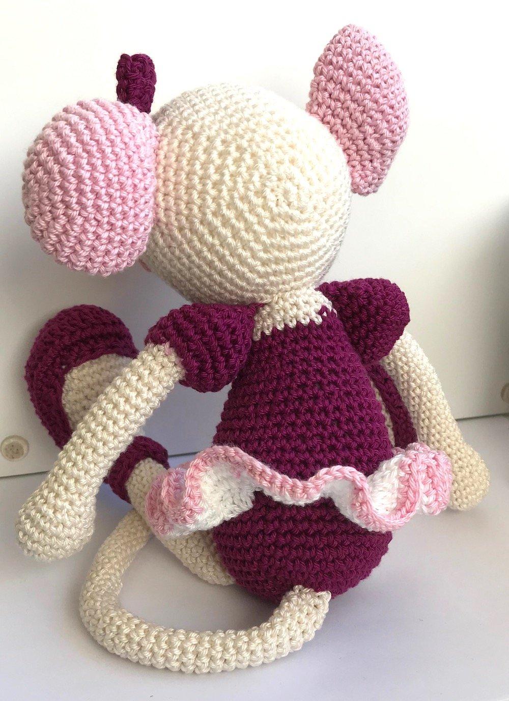 Mia the Ballerina Mouse - Crochet Amigurumi Plushie Soft Toy - BABY ...